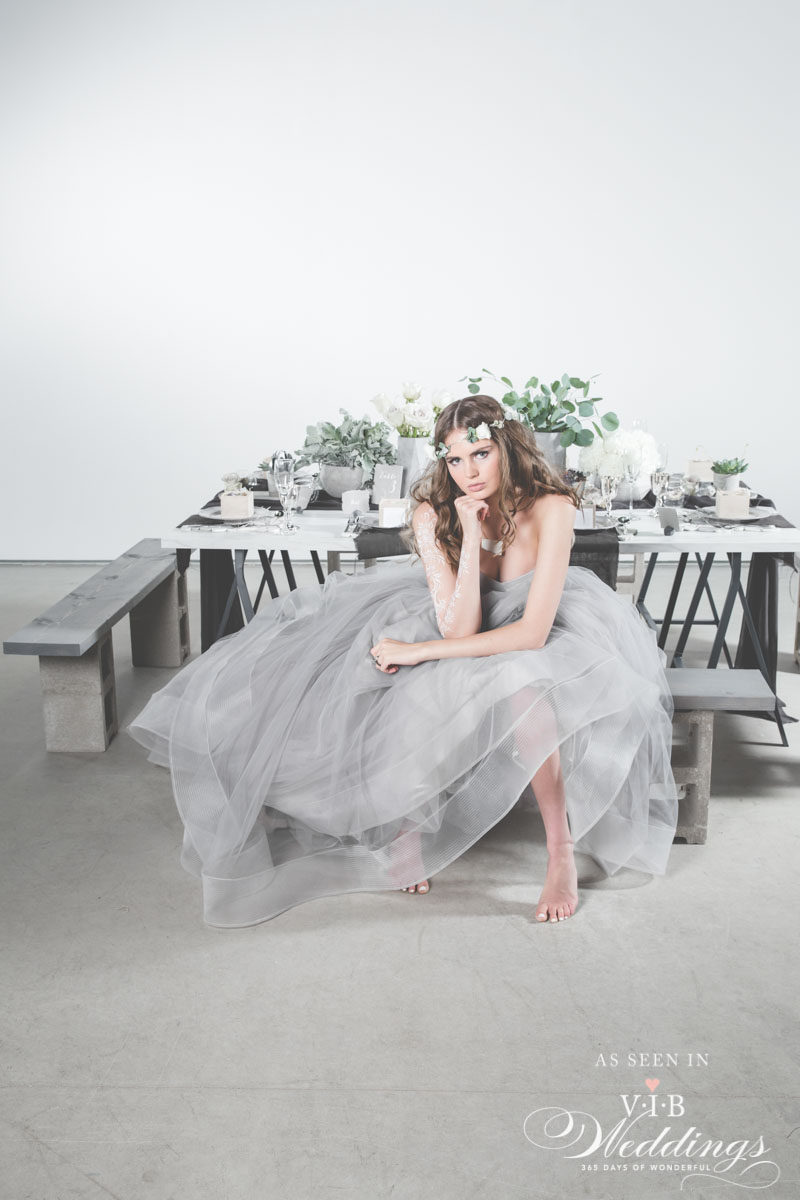 Grey Wedding Dress by Anna Lang